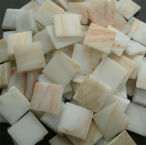 White - Mosaic Glass Tiles 2cm x 2cm x 4mm (G201)