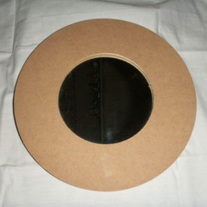 Wooden MDF Small Round Mirror