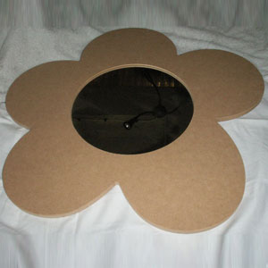 Wooden MDF Large Daisy Mirror