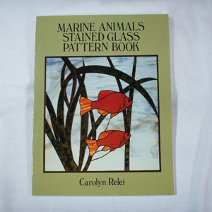 Marine Animals Stained Glass Pattern Book by Caroline Relei