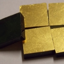 24kt Yellow Gold Smooth Mosaic Tiles 2cm x 2cm