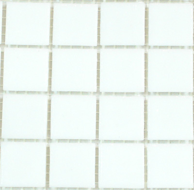 White (VTC 20.10) - Vetricolour Mosaic Glass Tiles (VTC 20.10)